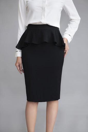 """Chân váy peplum là một lựa chọn hoàn hảo cho những nàng công sợ đang gặp vấn đề """"bụng ngấn mỡ"""""""