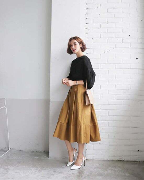 Chân váy công sở Kaki