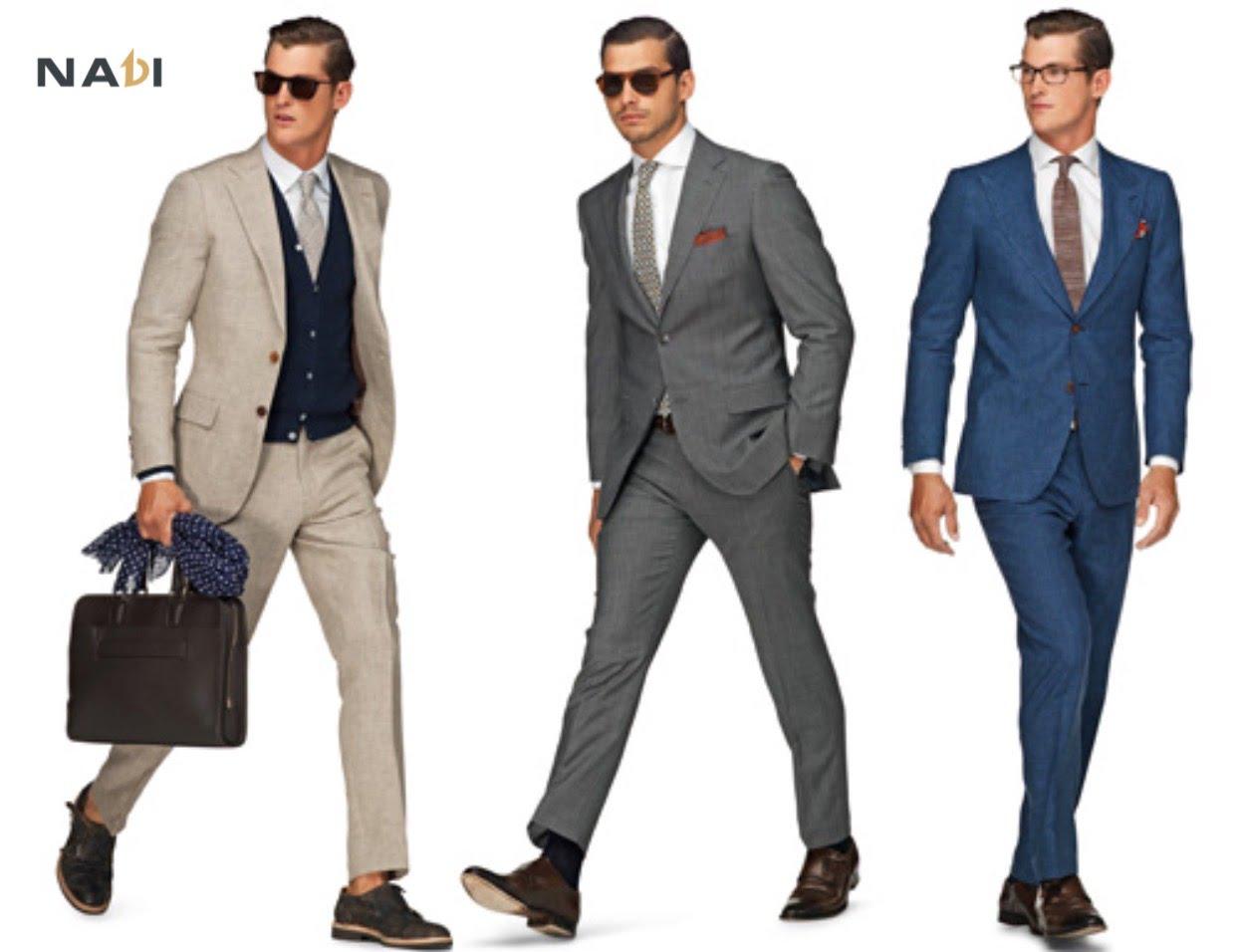 Trang phục đồ vest nam công sở giúp cho nhân viên nam trở nên thanh lịch