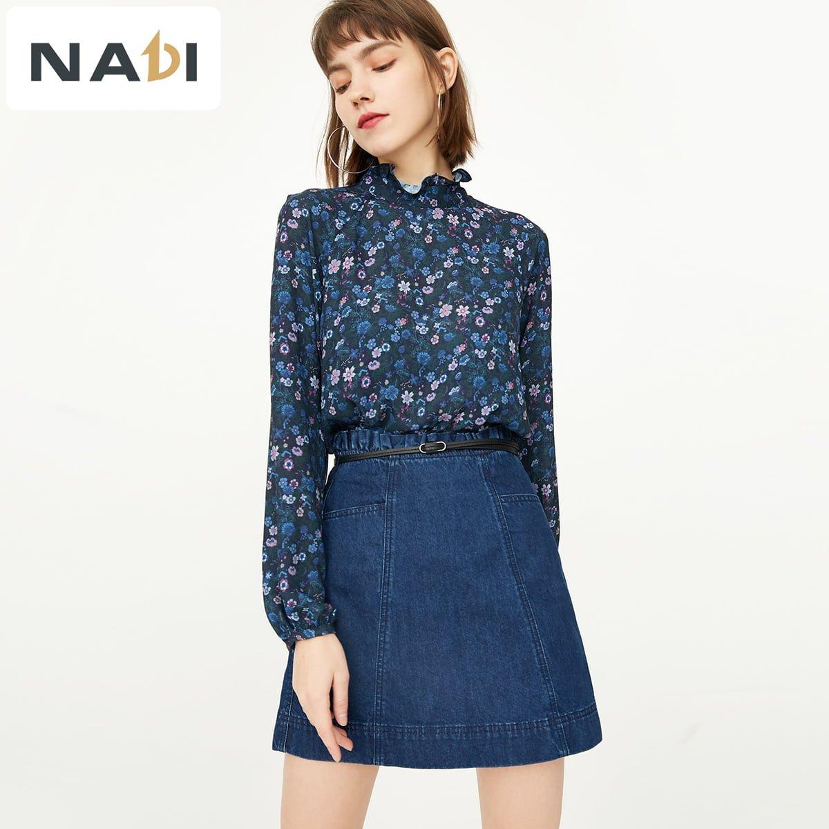 """Phối hợp giữa chân váy xoè bồng + sơ mi tay dài - set đồ mix&match cho nữ công sở """"bánh bèo"""" vào hai mùa hạ và đông cũng khá hay ho và đẹp mắt đấy"""