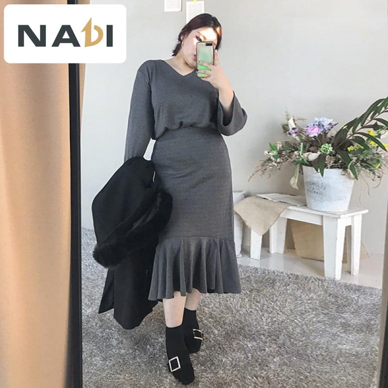 Váy suông đuôi cá - phối đồ công sở dựa trên tiêu chí đơn giản là chân ái cho nàng người mập
